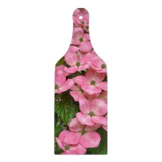 Pink kousa dogwood flowers cutting board