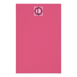 Pink 'L' monogram Stationery