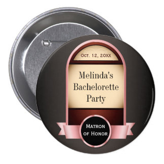 Pink Label Bachelorette Party Button