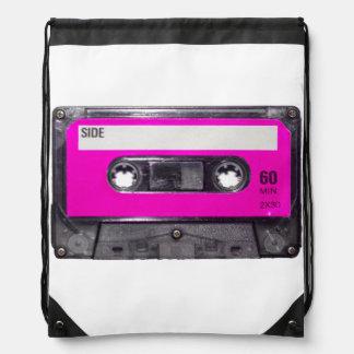 Pink Label Cassette Drawstring Bags
