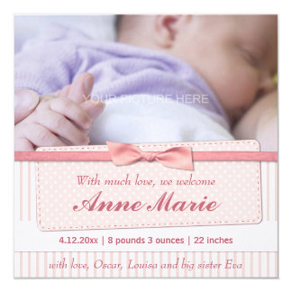Pink Lace Custom Announcement