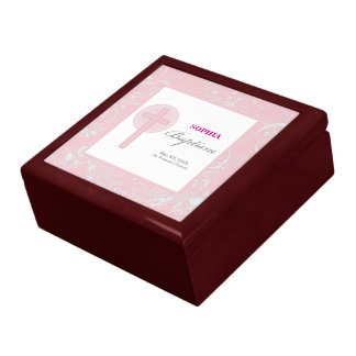 Pink Lace Girl Baptism Gift Box