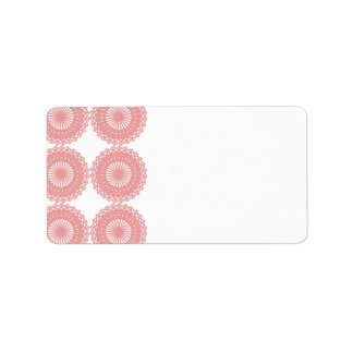Pink Lace Pattern Design. Address Label