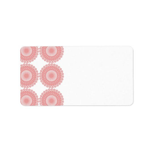 Pink Lace Pattern Design. Label
