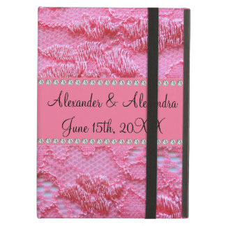 Pink lace wedding favors iPad air cases