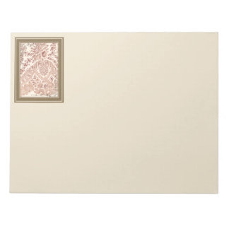 Pink Lace With Roses Notepad