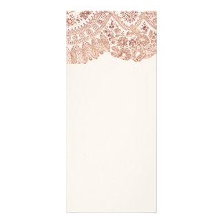 Pink Lace With Roses Rack Card