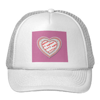 Pink Laced Heart Photo Frame Cap