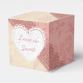 Pink Lacey Thank You Cupcake Box