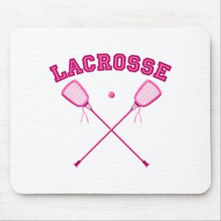 Pink Lacrosse Logo Mouse Pad