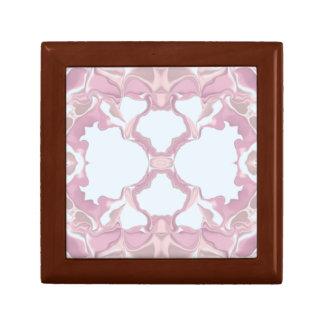 Pink Lacy Kaleidoscope Pattern Gift Box