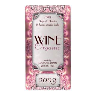 Pink Ladies Dreamy Custom Text Wine Bottle Labels