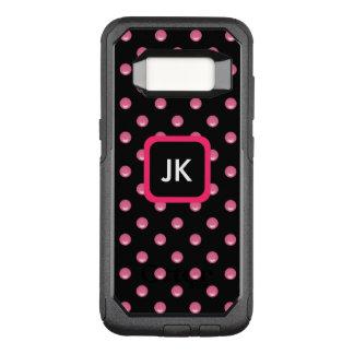 Pink Ladies Monogram OtterBox Commuter Samsung Galaxy S8 Case