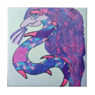 pink lady dragon tile