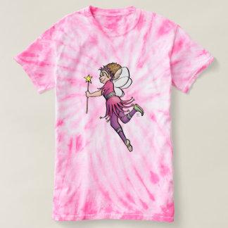 """Pink Lady"" — Fairies Theme Tie-Die T-Shirt"