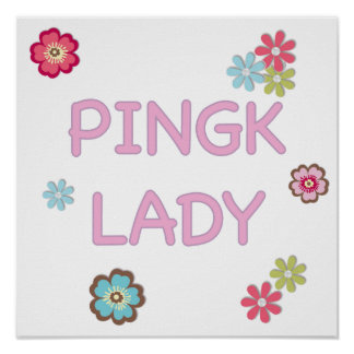 Pink Lady Ping Pong Poster