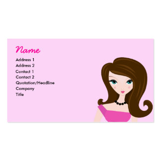 Pink Lady Profile Card Pack Of Standard Business Cards