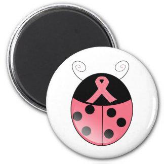 Pink Ladybug 6 Cm Round Magnet