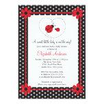 Pink Ladybug Baby Shower 13cm X 18cm Invitation Card