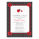 Pink Ladybug Baby Shower Personalized Invitations