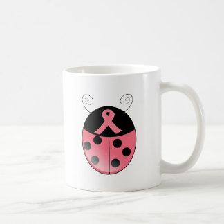 Pink Ladybug Basic White Mug