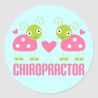 Pink Ladybug Chiropractor Gift Classic Round Sticker