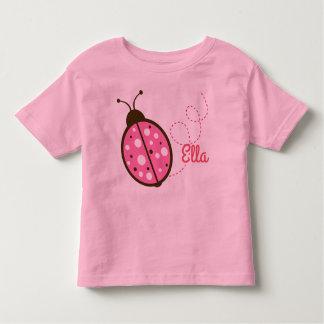 Pink Ladybug little girl tee