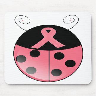 Pink Ladybug Mouse Pad