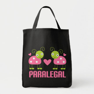 Pink Ladybug Paralegal Gift Grocery Tote Bag