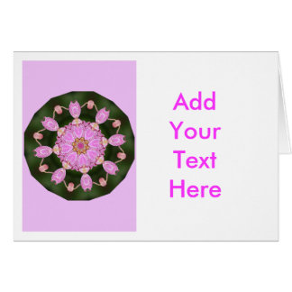Pink Ladybugs Dancing Queen Bee Pink Orchid Greeting Card