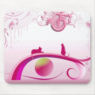 """pink land "" mouse pad"