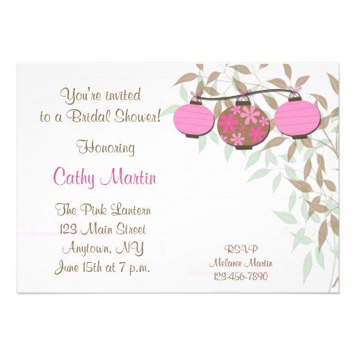 Pink Lanterns Invitation
