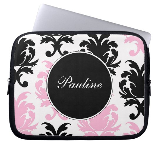 Pink Laptop Monogram Sleeves