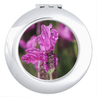Pink Lavender Compact Mirror