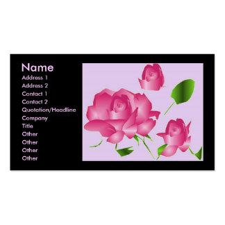 """""""Pink Lavender Rose Florist I"""" Profile Business Cards"""