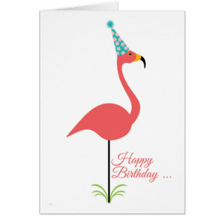 Pink Lawn Flamingo Happy Birthday to Classy Person Card