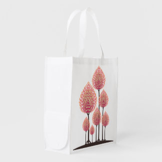Pink Leafed Trees - Grocery Bag