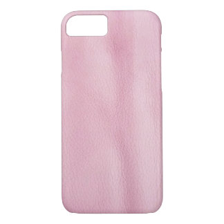 pink leather background iPhone 8/7 case
