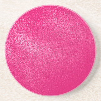 Pink Leather Look Coaster