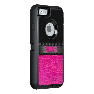 Pink Leather Love OtterBox iPhone 6/6s Case