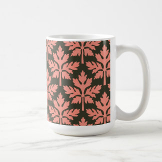 Pink Leaves Coffee Mugs