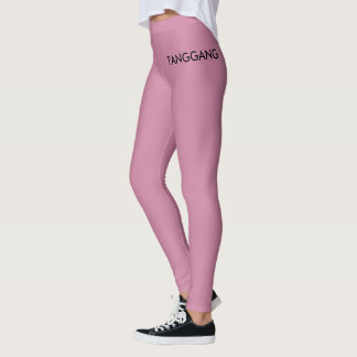 Pink leggings with logo merch ( it's hot boi )