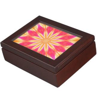 Pink Lemon Lily Medallion Keepsake Boxes