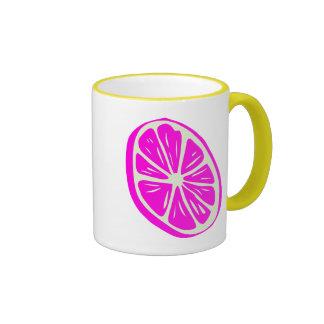 Pink lemon mugs