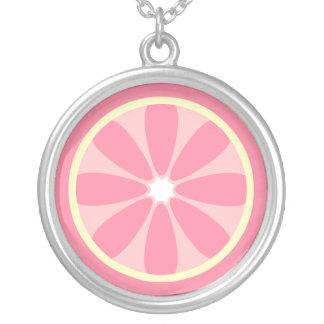 Pink Lemon Slice Necklace