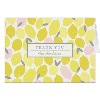 Pink Lemonade by Origami Prints Thank You Card