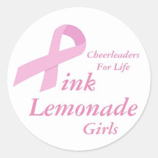 Pink Lemonade Girls Round Sticker