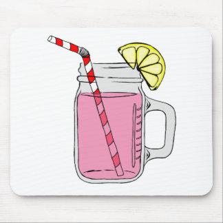 Pink Lemonade Mason Jar Mousepad