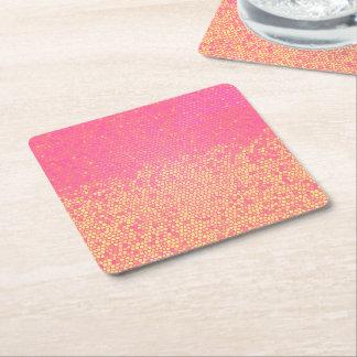 Pink Lemonade Ombre Square Paper Coaster