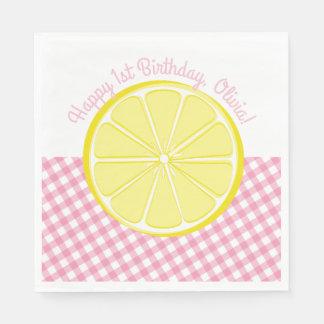 Pink Lemonade Party Napkins Disposable Serviette